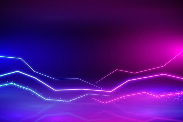 Fundo gradiente de néon