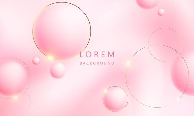 Fundo gradiente de ouro rosa pastel abstrato conceito de ecologia para seu design gráfico,