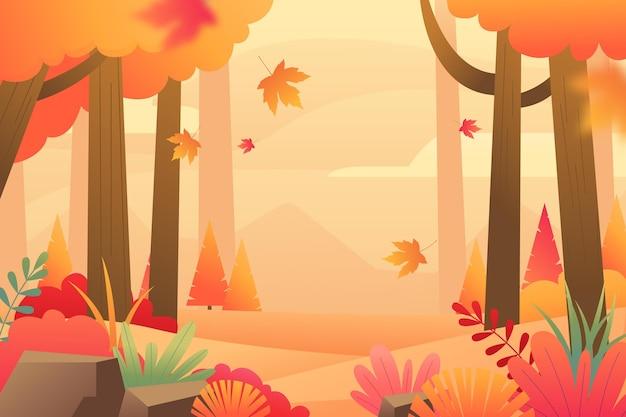 Fundo gradiente de outono