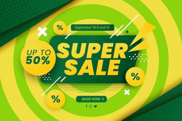 Fundo gradiente de super venda