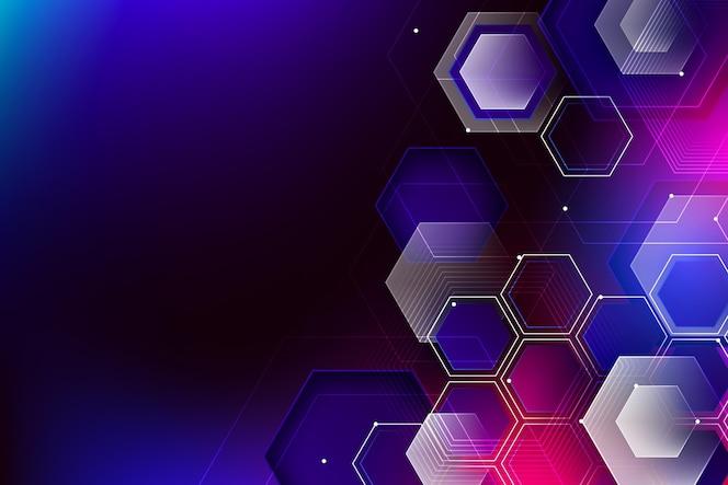 Fundo gradiente de tecnologia colorida