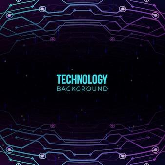 Fundo gradiente de tecnologia
