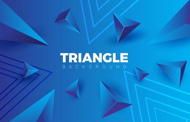 Fundo gradiente de triângulo abstrato azul