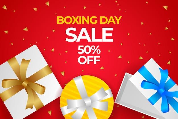 Fundo gradiente de venda de boxing day