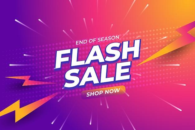 Fundo gradiente de venda de flash