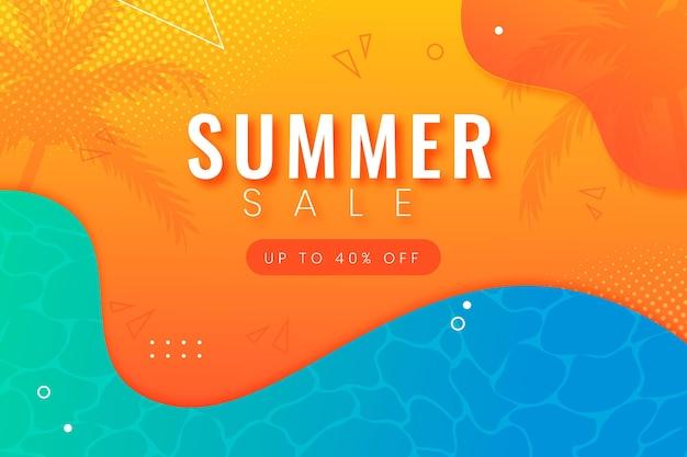 Fundo gradiente de venda de verão