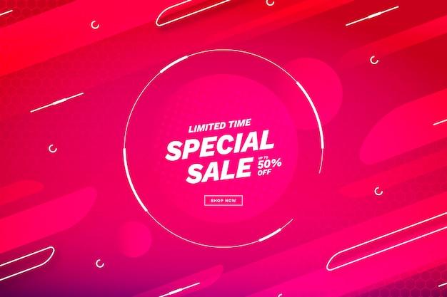 Fundo gradiente de venda Vetor Premium