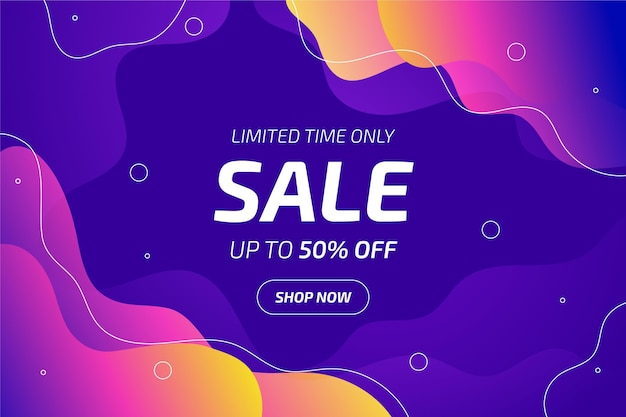 Fundo gradiente de vendas para promoções