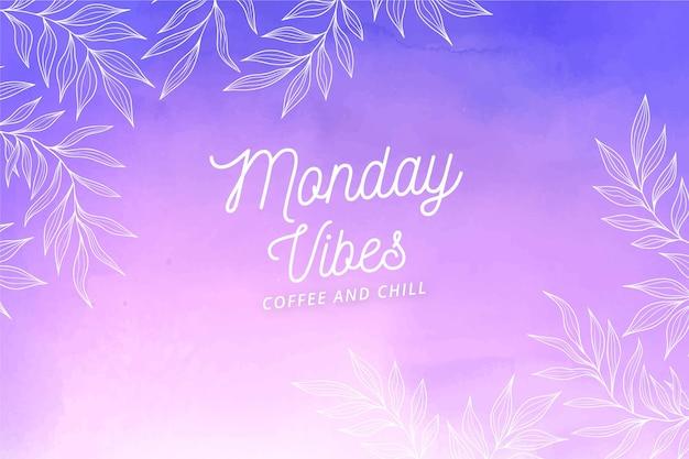 Fundo gradiente de vibrações de segunda-feira