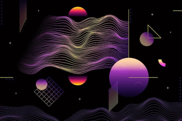 Fundo gradiente de wireframe abstrato