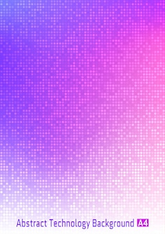 Fundo gradiente digital abstrato colorido do círculo da tecnologia