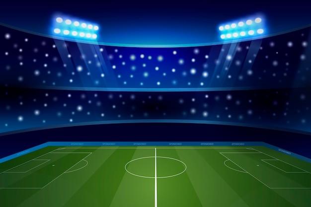 Fundo gradiente do campo de futebol Vetor grátis