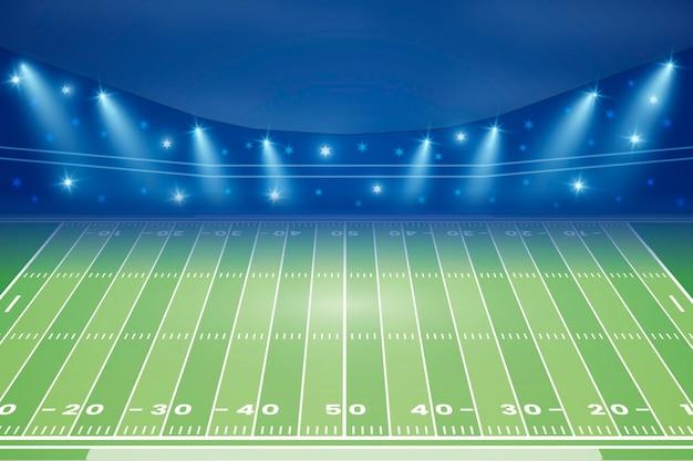 Fundo gradiente do campo de futebol