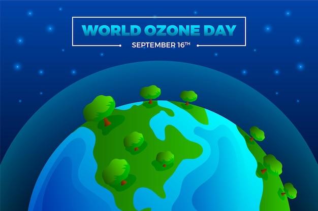 Fundo gradiente do dia mundial do ozônio Vetor grátis