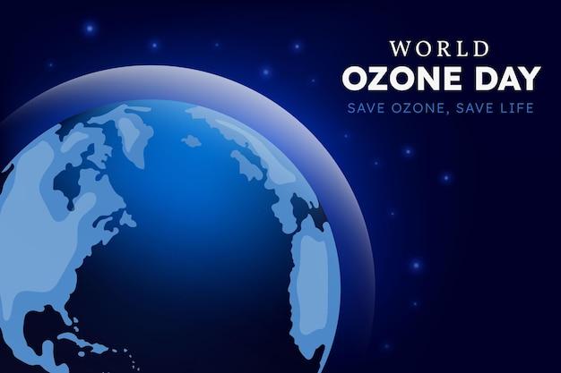Fundo gradiente do dia mundial do ozônio
