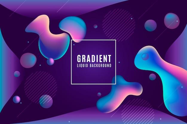 Fundo gradiente duotônico com formas líquidas