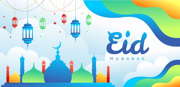 Fundo gradiente eid mubarak