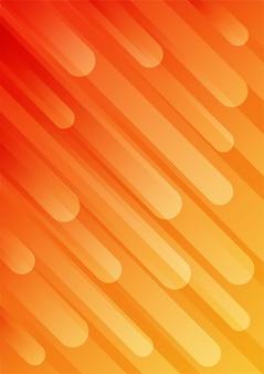 Fundo gradiente geométrico abstrato. forma de laranja. estilo moderno.
