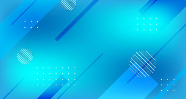 Fundo gradiente geométrico azul moderno