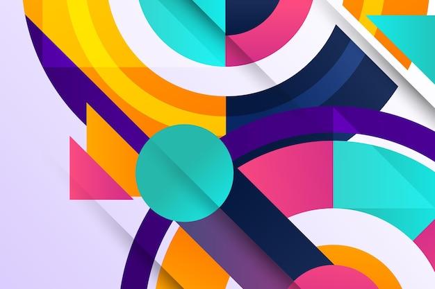Fundo gradiente geométrico circular
