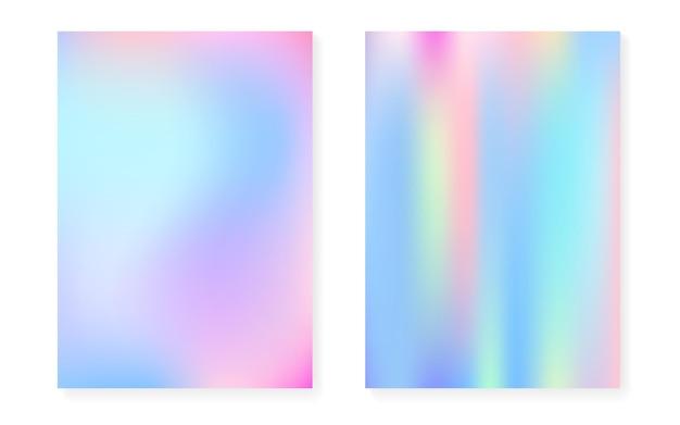 Fundo gradiente holográfico com cobertura de holograma.