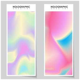 Fundo gradiente holográfico