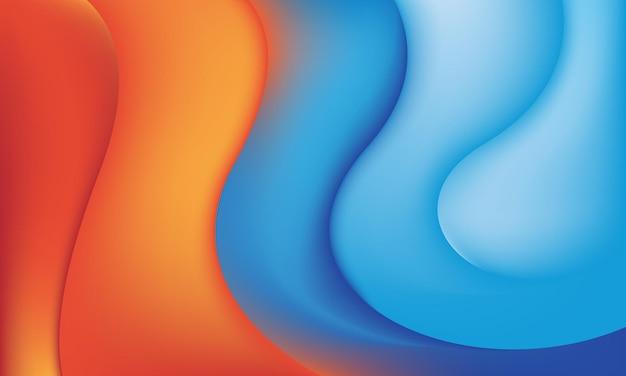 Fundo gradiente laranja e azul