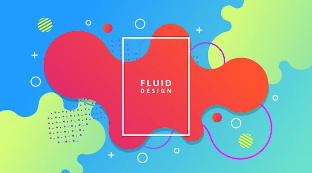 Fundo gradiente líquido dinâmico moderno abstrato dinâmico