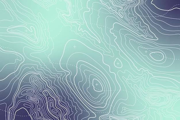 Fundo gradiente mapa topográfico