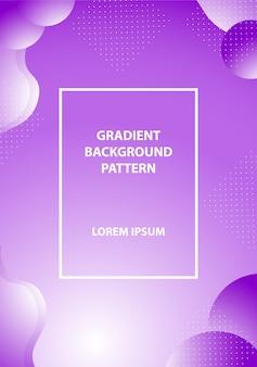 Fundo gradiente moderno com cor de estilo colorido