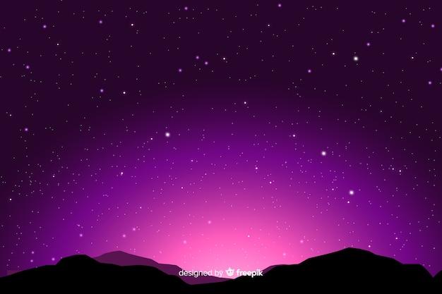 Fundo gradiente noite estrelada