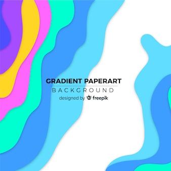 Fundo gradiente paperart