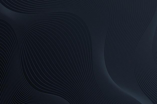 Fundo gradiente preto com linhas onduladas