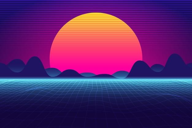 Fundo gradiente retro linear