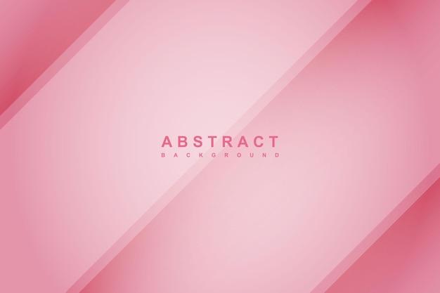 Fundo gradiente rosa com decoração de corte de papel diagonal