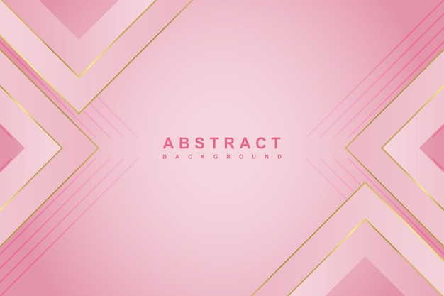 Fundo gradiente rosa luxo abstrato com forma geométrica