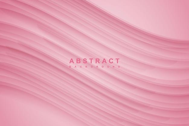 Fundo gradiente rosa minimalista abstrato com decoração de sombra ondulada