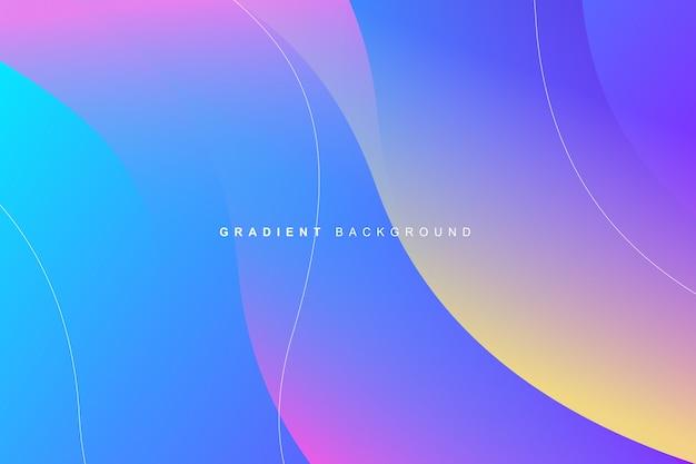 Fundo gradiente vibrante colorido dinâmico