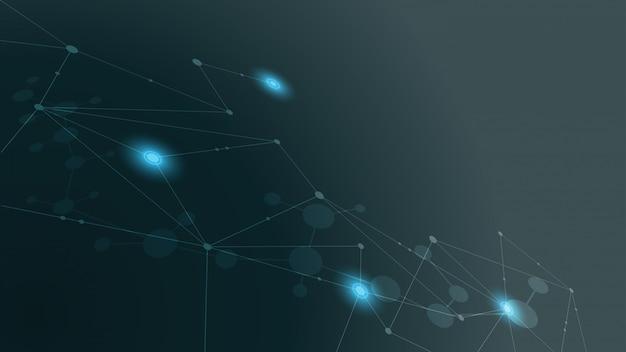 Fundo gráfico de tecnologia simples
