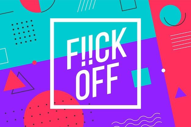 Fundo gráfico moderno e textura geométrica do estilo memphis com texto emocional. design gráfico colorido para emoção, culpa e curiosidade para banner, cartaz, cartão de felicitações.