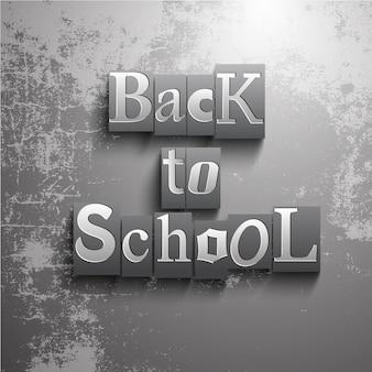 Fundo grunge de volta à escola