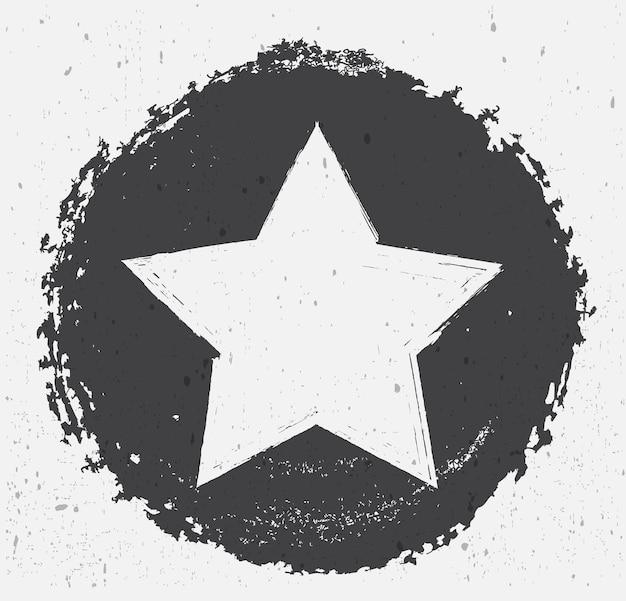 Fundo grunge sujo de estrela