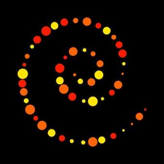 Fundo heterogéneo do teste padrão do sumário do círculo brilhante. vector espiral de cor vermelha, amarela, laranja para cartão de design, convite para festa pop moderno, camiseta, cartaz, folheto etc.