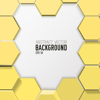 Fundo hexagonal abstrato em mosaico claro