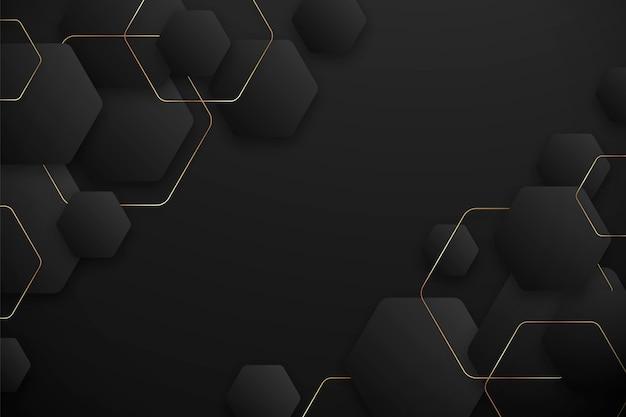 Fundo hexagonal com gradiente escuro