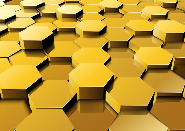 Fundo hexagonal de perspectiva