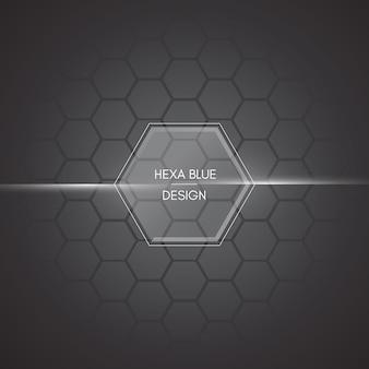 Fundo hexagonal escuro