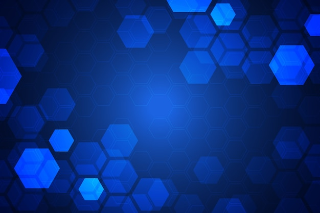 Fundo hexagonal futurista
