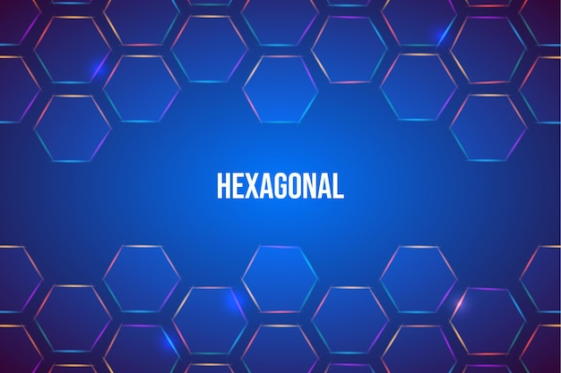 Fundo hexagonal gradiente azul