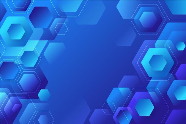 Fundo hexagonal gradiente azul